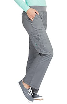 MC2 by Med Couture Women's Yoga Knit Waistband Cargo Scrub Pant