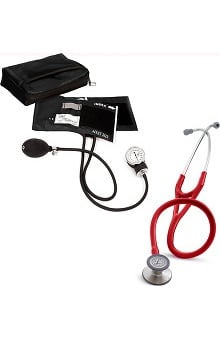 3M™ Littmann® Cardiology III™ Stethoscope With Prestige Medical Basics Aneroid Sphygmomanometer & Matching Case Kit