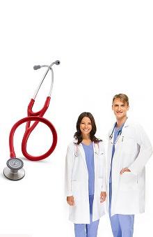 "3M™ Littmann® Cardiology III™ & Allheart Basics Unisex 41"" Lab Coat"