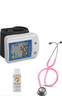 3M™ Littmann® Classic II S.E., Veridian Healthcare Wrist DiGital Blood Pressure Monitor, And Praveni Cleaning Kit