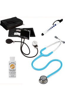 3M™ Littmann® Classic III™ & Prestige Medical Adult Sphygmomanometer With Matching Case, Quick Lites Penlight & Praveni Cleaning Kit