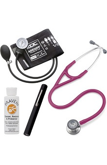3M™ Littmann® Cardiology IV™ Stethoscope With ADC® Phosphyg™ 760 Sphygmomanometer, Adlite Plus™ Penlight & Praveni Cleaning Kit