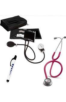 3M™ Littmann® Classic II S.E. Stethoscope With Prestige Medical Adult Sphygmomanometer & Matching Case & Quick Lites Penlight Kit