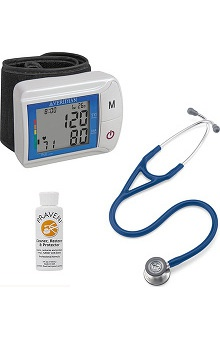 3M™ Littmann® Cardiology IV™ Stethoscope With Veridian Healthcare DiGital Wrist Blood Pressure Monitor & Praveni Cleaning Kit