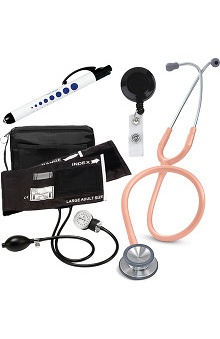 3M™ Littmann® Classic II S.E. Stethoscope With Prestige Medical Adult Sphygmomanometer & Matching Case,Quick Lites Penlight & Retracteze ID Clip Kit