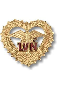 Prestige Medical LVN - Licensed Vocational Nurse (In Filigreed Heart) Pin