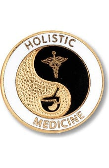 accessories: Prestige Medical Emblem Pin Holistic Medicine