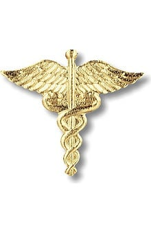accessories: Prestige Medical Emblem Pin Caduceus