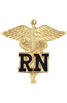 Prestige Medical RN - Registered Nurse (Letters On Caduceus) Pin
