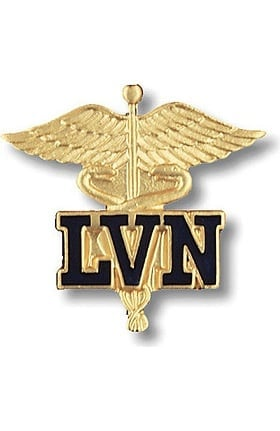 Prestige Medical LVN - Licensed Vocational Nurse (Letters On Caduceus) Pin