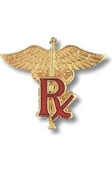 Prestige Medical Pharmacist ( RX On Caduceus ) Pin