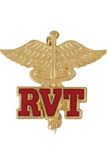 accessories: Prestige Medical Emblem Pin Registered Veterinary Technician