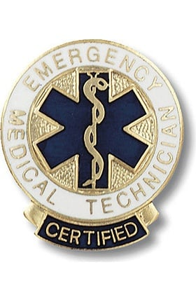 Prestige Medical Emergency Medical Technician, Certified Swivel Bar Pin