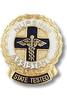 accessories: Prestige Medical Emblem Pin State Tested Nurses Assistant