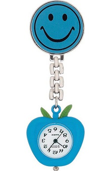 Prestige Medical Smiley Face Lapel Watch