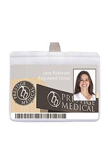 Prestige Medical Clear I.D. Card Holder With Clip
