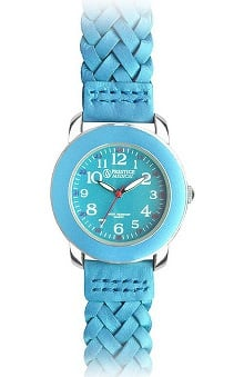pink ribbon accessories: Prestige Medical Women's Woven Leather Band Fashion Watch