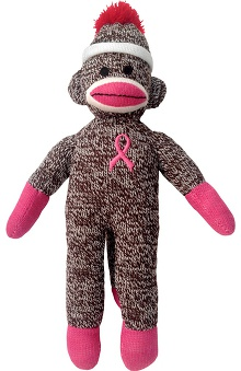 Gifts Accessories new: Prestige Medical Unisex Pink Ribbon Sock Monkey