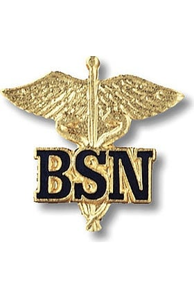 Prestige Medical BSN - Bachelor Of Science Nursing (Letters On Caduceus) Pin