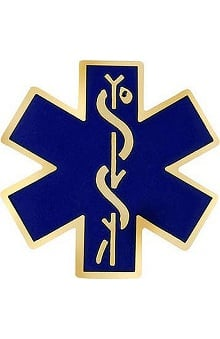 Prestige Medical Emblem Pin Star Of Life
