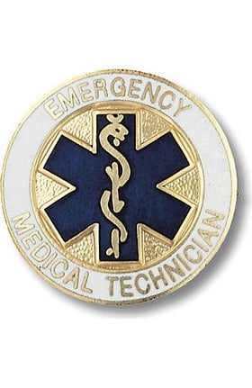 Prestige Medical Emergency Medical Technician - EMT (Star Of Life Design) Pin