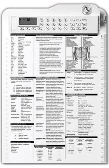 Prestige Medical Nurses Calculator Clipboard 2-Sided Multi-Feature