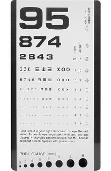 Prestige Medical Rosenbaum Pocket Eye Chart