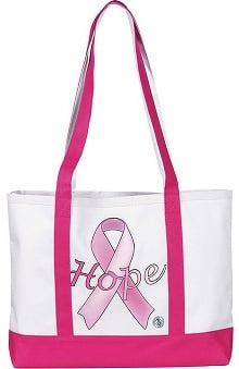 pink ribbon accessories: Prestige Medical Large Canvas Tote Bag