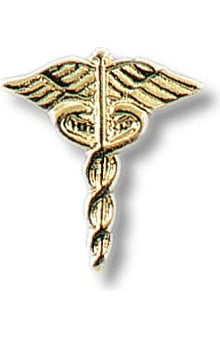 Prestige Medical Caduceus Tacs Pin Set of 2