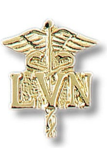 "Prestige Medical ""LVN on Caduceus""  Insignia Tac Pin"