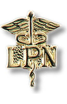 Gifts Accessories new: Prestige Medical LPN - Licensed Practical Nurse On Caduceus Tac Pin