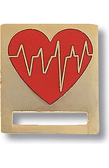 Prestige Medical EKG Heart Badge Pin