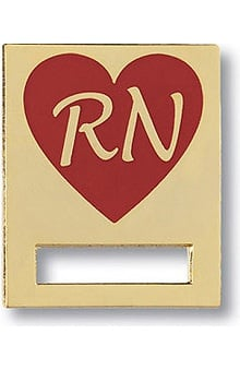 Prestige Medical Badge Registered Nurse Heart Pin