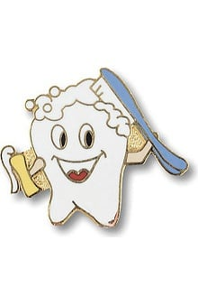 Prestige Medical Cute Tooth Brushing Itself Tac Pin