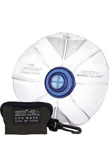 Prestige Medical Compact Mask with One-Way Valve In Vinyl Zippered Bag
