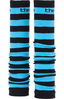 Med Sleeve Black and Aqua Stripes