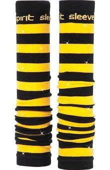 Med Sleeve Black and Gold Stripes with Bling