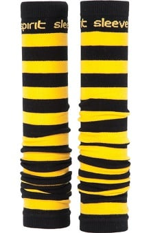 Med Sleeve Black and Gold Stripes