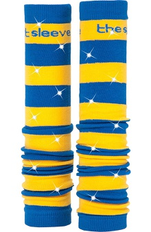 Med Sleeve Royal and Gold Stripes with Bling