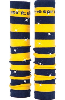 Med Sleeve Navy and Gold Stripes with Bling