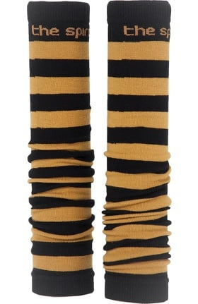 Med Sleeve Women's Black and Old Gold Stripes
