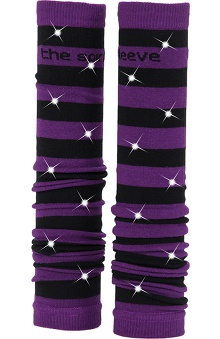 Med Sleeve Black and Purple Stripes with Bling
