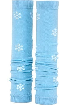 Med Sleeve Blue with White Snowflakes