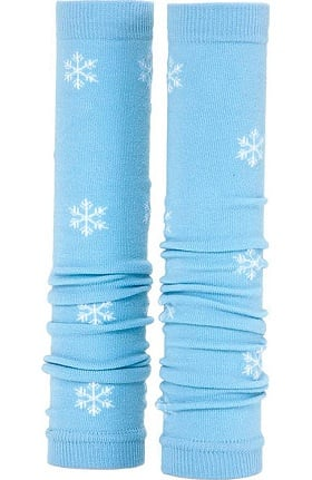 Med Sleeve Women's Blue with White Snowflakes