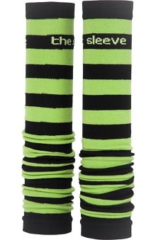 Med Sleeve Green and Black Stripes