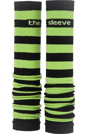 Med Sleeve Women's Green and Black Stripes