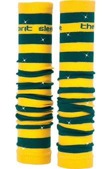 Med Sleeve Green and Gold Stripes with Bling