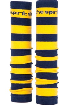Med Sleeve Navy and Gold Stripes