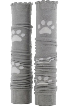 Med Sleeve Grey and White Paw Print