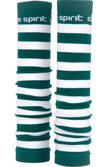 Med Sleeve Green and White Stripes
